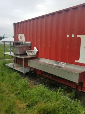 Stainless tables and Sinks/ big table sold for Sale in Aurora, OR
