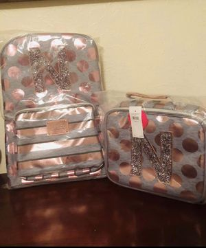 New backpack and lunch box initial N for Sale in Dallas, TX