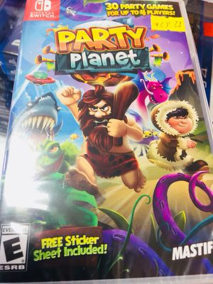 Party Planet - Nintendo Switch Game - $55 cash for Sale in Los Angeles, CA