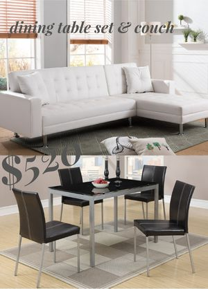 Modern and stylist combo table set & couch for Sale in Long Beach, CA