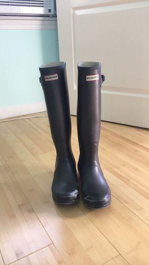 Black Hunter Rain boots (size 7) for Sale in Belmont, MA