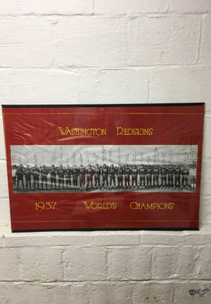 Redskins 1937 champions framed poster for Sale in Arlington, VA