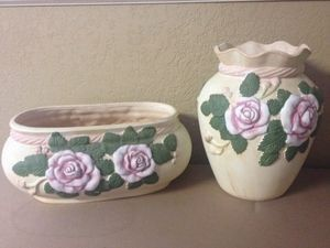 2 matching Pottery Flower Vases for Sale in Tampa, FL