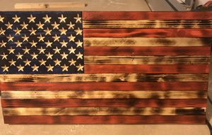 """Handmade Wooden American Flag 9.75""""x18.5"""" for Sale in Hope Mills, NC"""