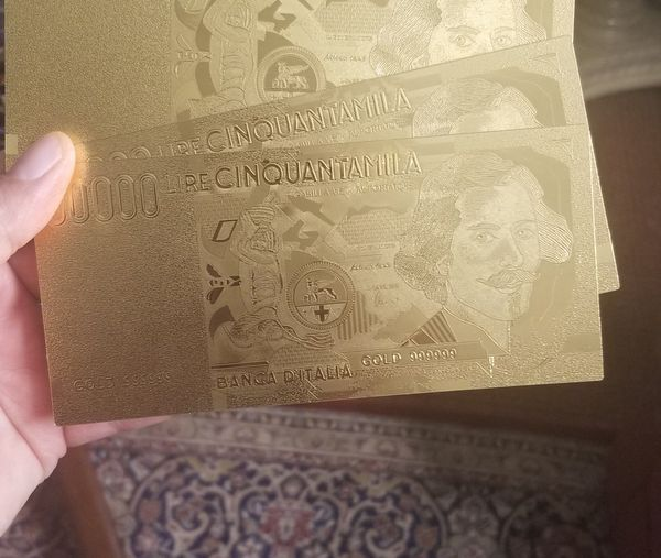 24k gold plated Italy lera collection of notes