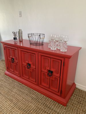 Buffet sideboard credenza bar accent piece China cabinet entryway console tv stand kitchen cabinet server for Sale in Hollywood, FL