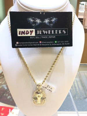 10Kt gold rope chain and charm available on sale for Sale in Indianapolis, IN