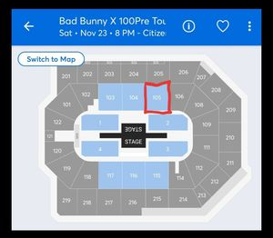 Bad Bunny Tickets Ontario November 23 Toyota Arena for Sale in West Covina, CA