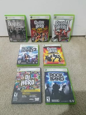 XBOX 360 - 7 Guitar Hero games - $35 for all for Sale in San Diego, CA