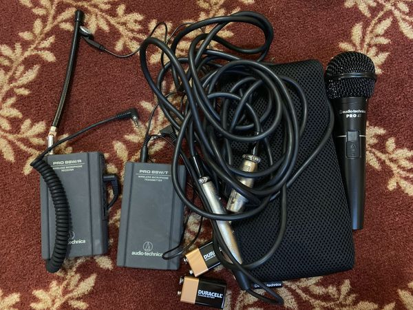 Audio-Technica Wireless Microphone System with Pro 41 Microphone and Pro 88W Receiver and Transmitter