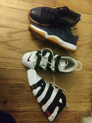 Uptempos and jordan 11s lows for Sale in Detroit, MI