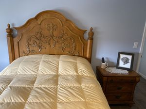 Oak Queen Bedroom Set for Sale in Colonie, NY