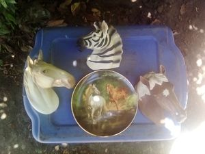 porclen horse and zebra head for Sale in Stockton, CA