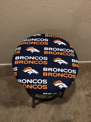 Denver Broncos round bar stool cover for Sale in Las Vegas, NV