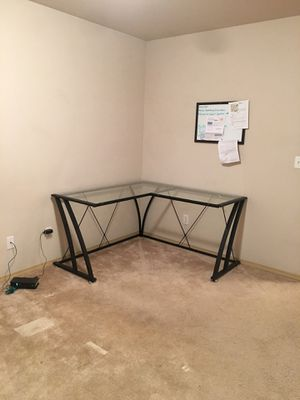 Contemporary style Glass L-shape computer desk for Sale in Gig Harbor, WA