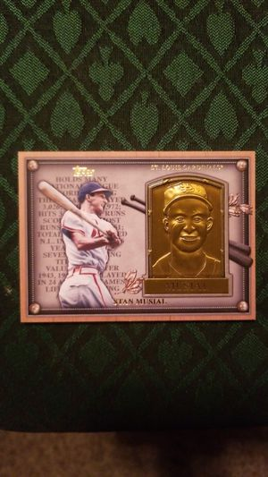 Stan Musial, 2012 Topps, Gold Hall of Fame Card Plaque Card for Sale in Bozeman, MT
