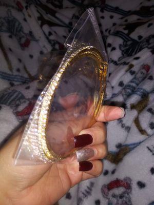 Gold diamond hoop earrings for Sale in Dallas, TX
