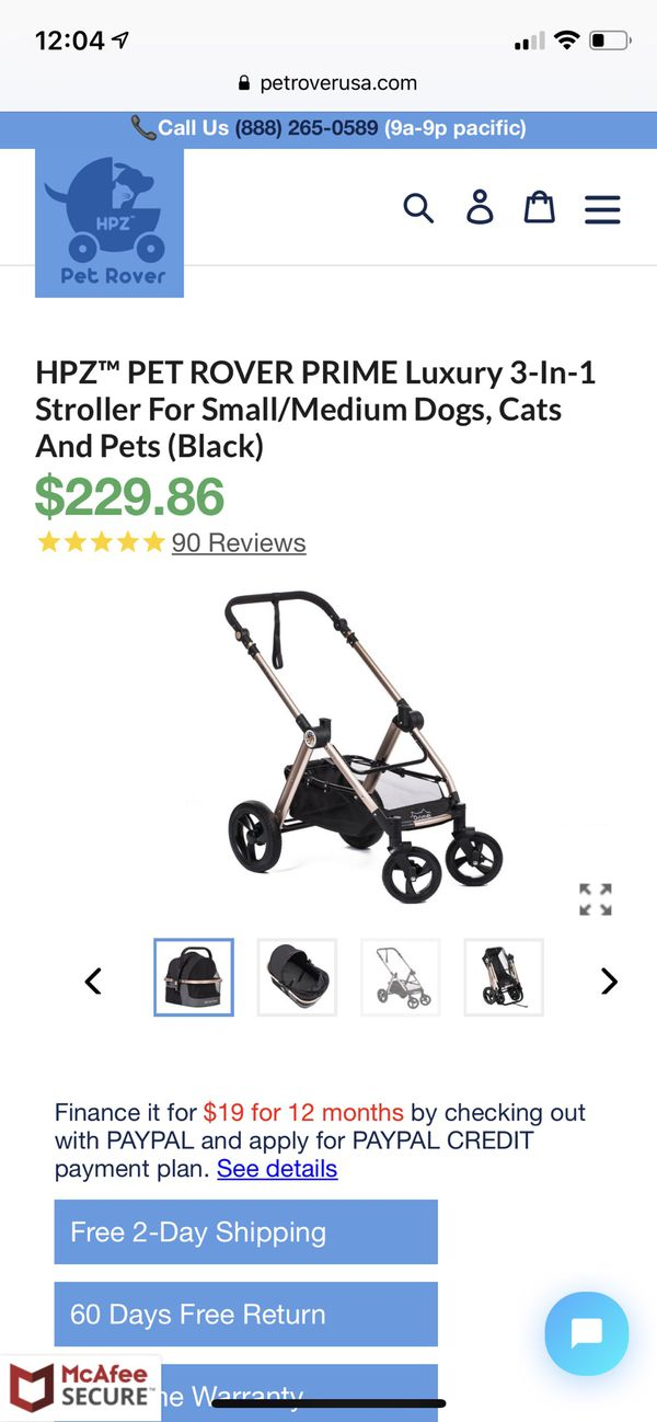 Luxury Pet Stroller & Car Seat BRAND NEW