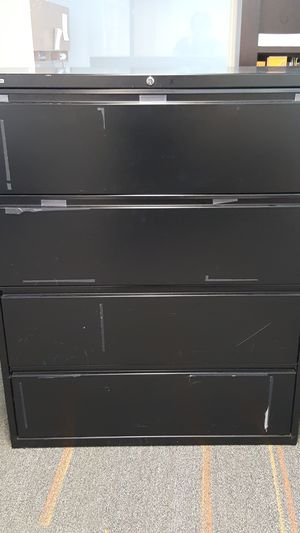 Black file cabinet for Sale in Tampa, FL