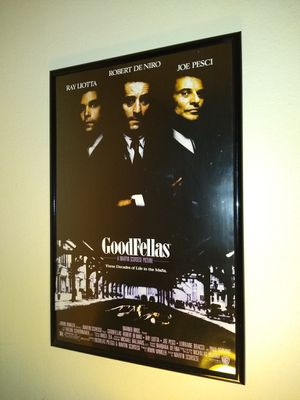 Goodfellas movie poster and frame for Sale in Norfolk, VA