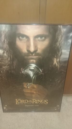 Framed Lord of The Rings, Return of the King Poster for Sale in University Place, WA