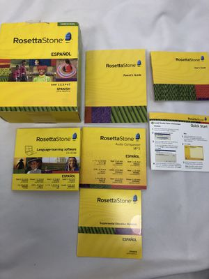 Rosetta Stone Homeschool Espanol Spanish 1-5 Audio Companion for Sale in Cottage Grove, MN