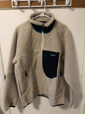 Patagonia Classic Retro-X Fleece Jacket Size Large Cream for Sale in Monterey Park, CA