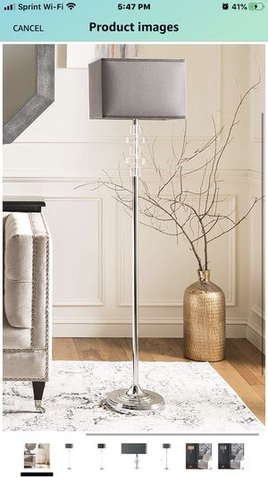 Safavieh Lighting Collection Times Square Clear 60.25-inch Floor Lamp. NEW for Sale in Indianapolis, IN