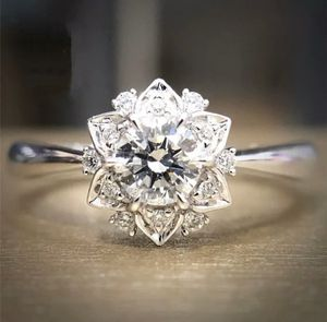 925 Sliver White Topaz Pave Setting Engagement Ring for Sale in Wichita, KS