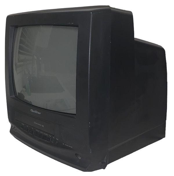 Vintage Black 13 in. QUASAR Omnivision VV-1300 TV VCR Combo + Owner's Manual