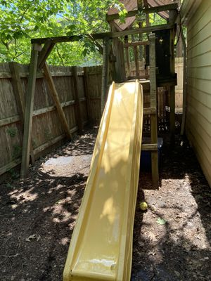 Handmade Playhouse swing set and slide(must take down and away) for Sale in Cleveland Heights, OH
