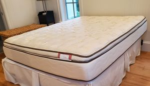 Eurotop queen size mattress/box spring and frame for Sale in Boca Raton, FL