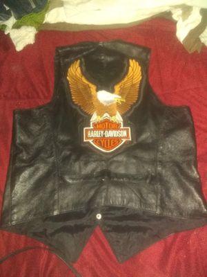 Genuine leather Harley-Davidson vest for Sale in Coronado, CA