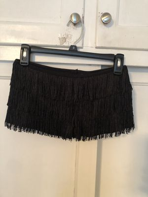 Black fringe booty shorts (costume) for Sale in Norwalk, CA