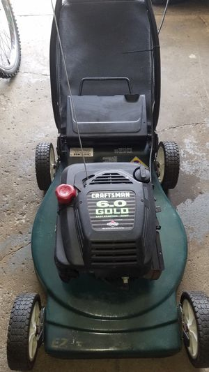 Craftsman 6.0 gold easy start lawn mower push with bag new spark plug new oil tune up 130 firm for Sale in Cleveland, OH