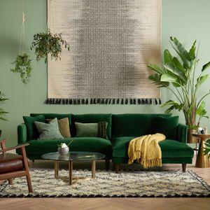 Green Velvet L Shape Joybird Couch for Sale in Jersey City, NJ