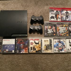 Ps3 With Games, Cords, 2 Controllers for Sale in King City, OR