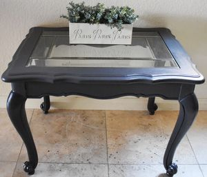 Antique Hardwood Mahogany Small Table with Beveled Glass top for Sale in Las Vegas, NV