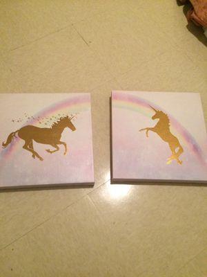 frame of unicorns for a little girl room for Sale in Alexandria, VA