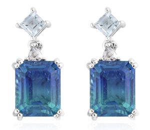 Ombré Indian Ocean Quartz Earrings for Sale for sale  New York, NY