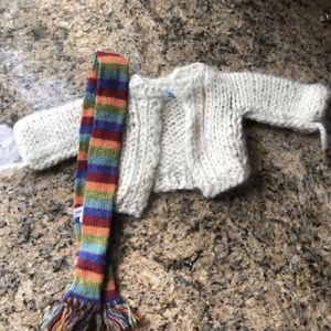 Sweater And Scarf For American Girl Size Doll for Sale in Yorba Linda, CA