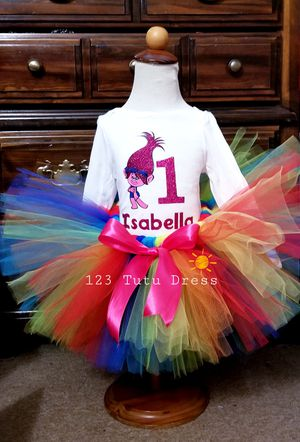 Colorful Troll Birthday Tutu Outfit for Sale in El Monte, CA