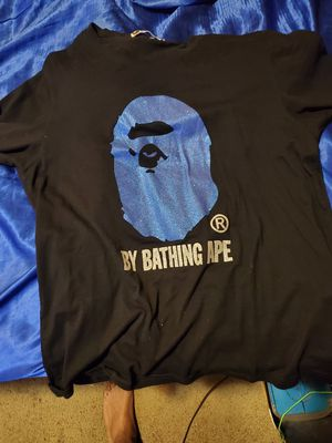 Blue and black bape bathing ape tee xxl for Sale in Nashville, TN