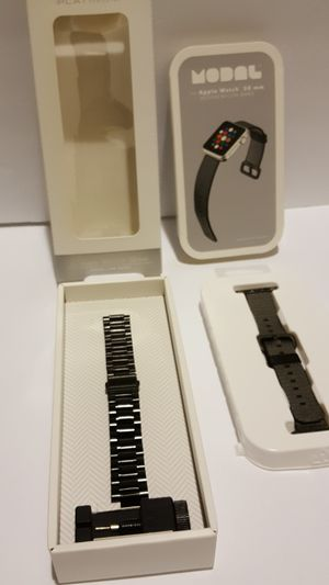 38 40 mm black chain link nylon apple watch bands for Sale in Fort Belvoir, VA