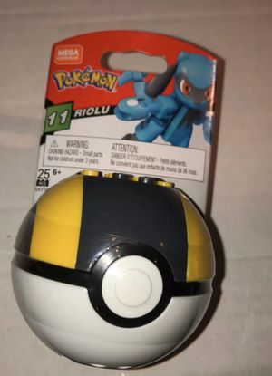 Mega Construx RIOLU Pokemon Series 11 Figure & Poke Ball - 25 Pieces GKY76 for Sale in Rockwall, TX