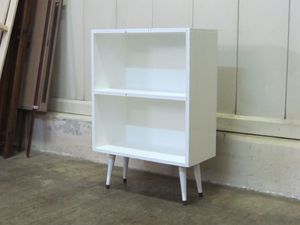 Solid Wood Mid Century Modern Bookcase with White Painted Finish for Sale in Waxhaw, NC