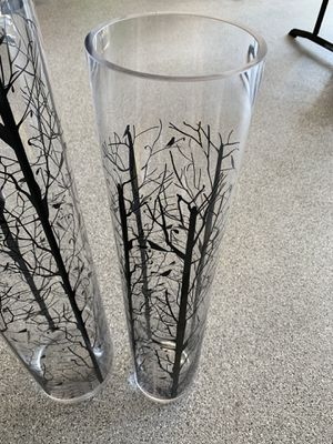 2 large glass tree, beach & bird themed home decor pieces for Sale in Tigard, OR