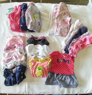 Newborn Baby Girl 27 pcs +Diapers for Sale in Lumberton, TX