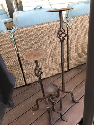 Wrought iron flower pot holders for Sale in Malden, MA