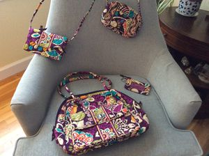 Vera Bradley Large Purse, Crossbody/Wallet, Small Handbag, ID Case - Plum Crazy pattern for Sale in Woodbridge, VA